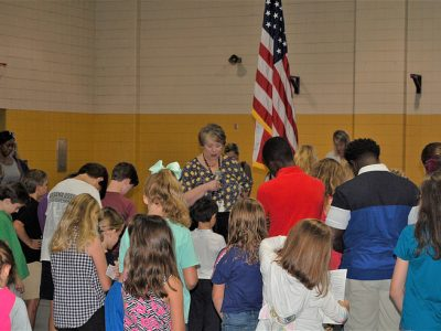 Daniel Pratt Elementary Hosts Inaugural 'See You at the Pole' Event Before School Sept. 25