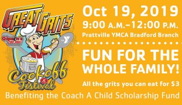 Great Grits Cookoff Coming to Prattville YMCA Bradford Branch Oct. 19