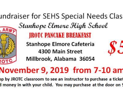 Fundraiser for SEHS Special Needs Class is Nov. 9; JROTC Hosting Pancake Breakfast in Cafeteria
