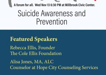 Methodist Churches in Millbrook Team Up to Highlight Suicide Epidemic with Event Nov. 13