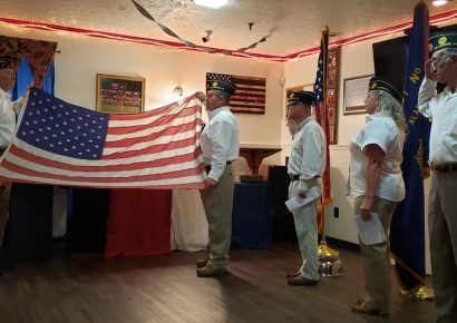 American Legion Post 133 Hosts Flag Retirement Ceremony with Past Commanders