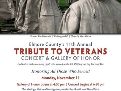 Trinity Episcopal Church of Wetumpka to Host 11th Annual County Tribute to Veterans Nov. 11