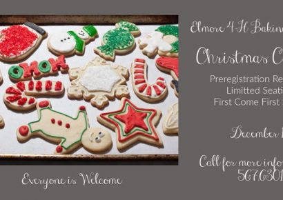 Elmore County 4-H Offers Christmas Cookie Baking Series Dec. 14; Spaces Limited