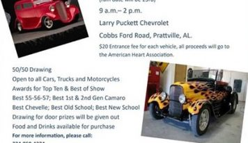 Brooks Lazenby Memorial Car Showing Coming Nov. 16 to Larry Puckett Chevrolet in Prattville