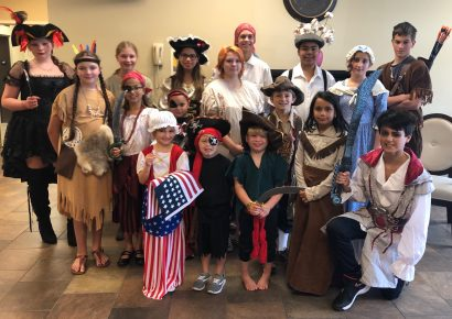 Academy Days Homeschoolers Celebrate Alabama's Bicentennial with Feast, Costume Contest
