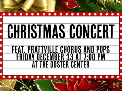 Community Chorus, Prattville Pops to Host Christmas Concert at Doster Center Dec. 13
