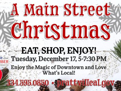Prattville to Host 'A Main Street Christmas' Event Dec. 17 with Decorations, Santa, Free Carriage Rides