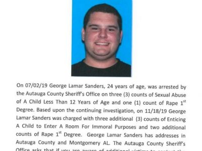 'We Believe There Are More Victims,' Sheriff Sedinger Says After Arrest of George Sanders for Sexual Abuse, Rape of a Child