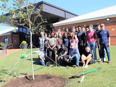 Class of 1970 at SEHS Plants White Oak Tree in Honor of Coach Henderson