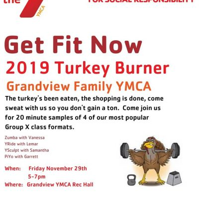 Grandview Family YMCA Hosting 2019 Turkey Burner Nov. 29; Admission is One Can of Food for WELCOME