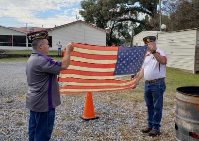 PHOTOS: With Honor and Respect, American Flags Retired at American Legion Post 133 in Millbrook Today