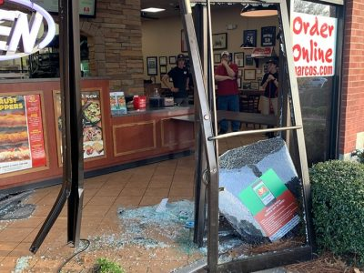 Van Crashes Into Front of Marco's Pizza in Prattville; No Injuries Reported, but Pick-Up Halted for Repairs
