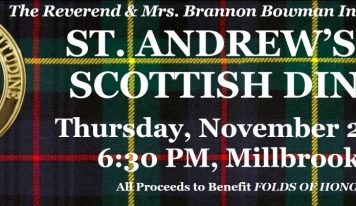 Last Call for St. Andrew's Supper Tickets! Coming to Millbrook Civic Center Nov. 21 to Benefit Folds of Honor