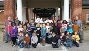 Children from Local Schools Took up Donations of Food for The W.E.L.C.O.M.E. Center Food Pantry During the Holidays.