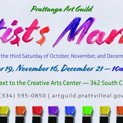 Final Artist Market of the Year coming to Prattauga Art Guild Dec. 21 Just in time for Christmas Shopping