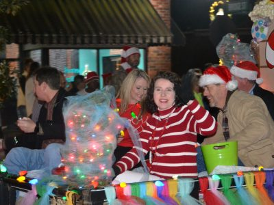 Crowd Lines Main Street in Prattville for Annual Nighttime Parade Friday