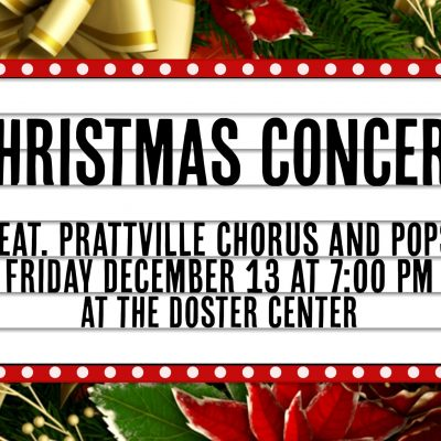 FREE Christmas Concert Dec. 13 with Prattville Community Chorus, Prattville Pops at Doster Community Center
