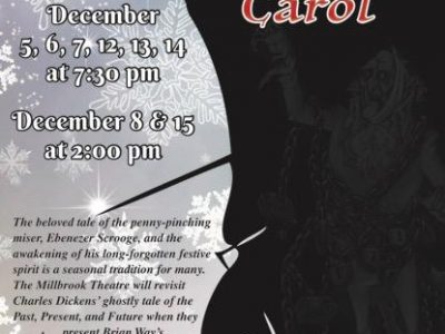 Millbrook Community Players to Present 'A Christmas Carol' Dec. 5 through Dec. 15 at Old Robinson Springs School