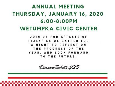 'An Evening with the Wetumpka Chamber,' with A Taste of Italy Coming Jan. 16 to Wetumpka Civic Center
