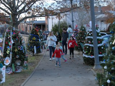 Autauga Christmas Tree Trail on Creekwalk Shows Love for Family Support Center; On Display through Christmas