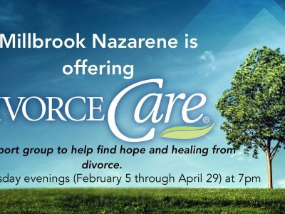 Millbrook Church of the Nazarene to Begin New 'Divorce Care' Program Feb. 5; Meets Wednesday Nights