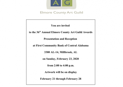 Elmore County Art Guild Awards Presentation, Reception is Feb. 23 at First Community in Millbrook