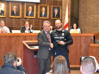 Three Prattville Police Officers Recognized at January 21 City Council