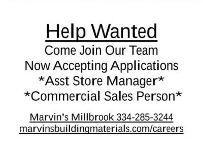 Marvin's is  Hiring!