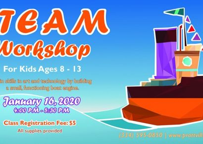 STEAM Workshop Coming Jan. 16 to Prattauga Art Guild for students ages 8-12; Fee $5