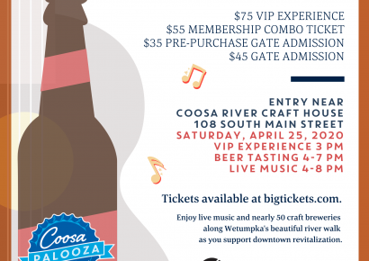 Tickets Now on Sale for 2020 CoosaPalooza Beer Tasting Event in Wetumpka April 25
