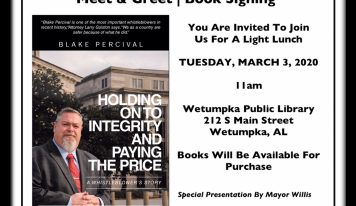 National Security Threat Whistleblower, Wetumpka Resident to Hold Book Signing in Wetumpka