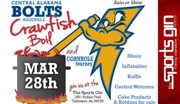 Crawfish Boil, Cornhole Tournament coming to Tallassee to support the Bolts Baseball Program