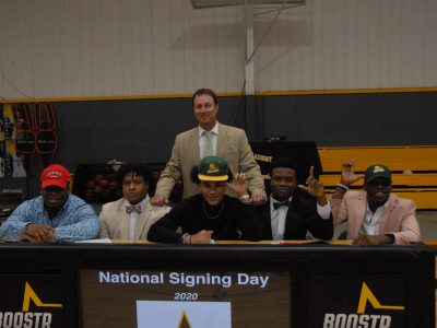 Autauga Academy Football Players Sign with Colleges on Signing Day