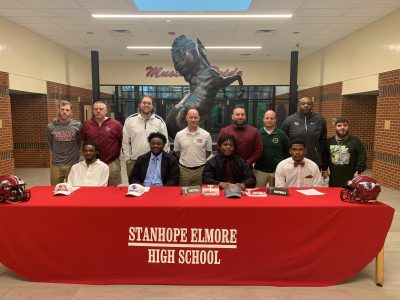 Stanhope Elmore High School Hosts Signing Day Watch Party for Four Different Football Players