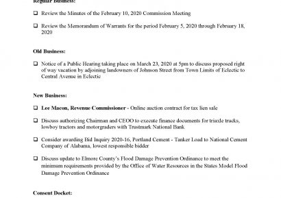 Elmore County Commission Meets at 6 p.m. Today; See Agenda