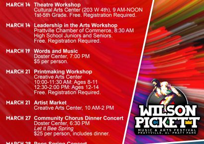 City of Prattville to Celebrate The Arts Throughout March! Something for Everyone