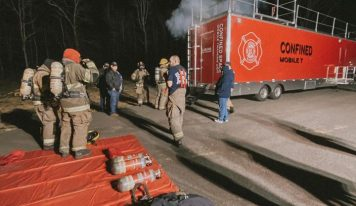 Elmore Fire/Rescue Utilizes Alabama Fire College Confined Space Mobile Training Unit