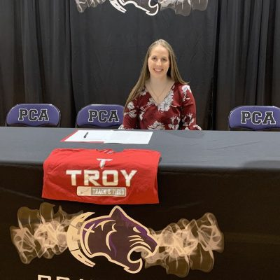 PCA's Ginny Gunn Signs Track and Field LOI with Troy University