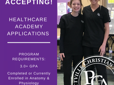 Prattville Christian Academy's Healthcare Academy Accepting Applications for 20-21 School Year