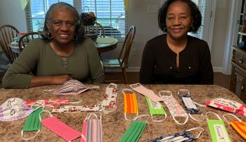 Millbrook Sisters Stepping Up and Making Homemade Masks to Fight Against COVID-19
