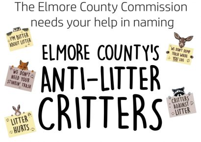 Elmore County Commission Seeks Help from Elementary, Middle School Students in Naming Anti-Litter Critters