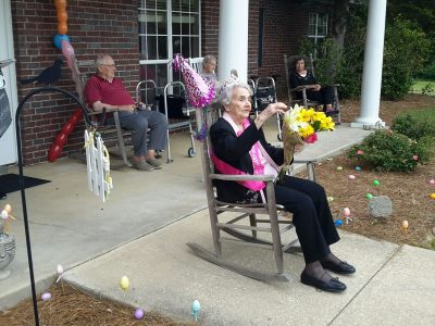 Family, Friends and Millbrook Fire Department Make a 'Safe' 100th Birthday Parade Possible for Lee Audis Gaines at Autumn Place Assisted Living