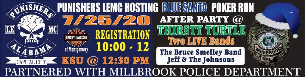 Blue Santa Poker Run Hosted by Capital City Punishers LEMC Coming July 25; Benefits Millbrook Police 'Operation Blue Santa'