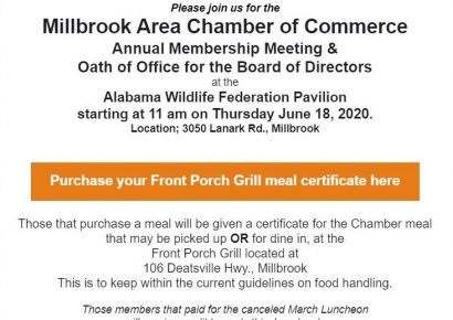 Millbrook Area Chamber's Annual Membership and Oath of Office Event coming to AWF Pavilion June 18