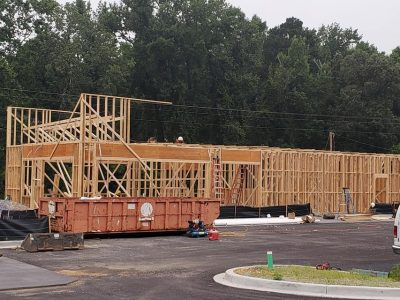 Taco Bell's Presence in Millbrook is Growing as Workers Put up Framing Today