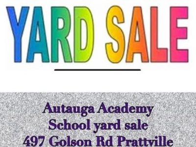 Autauga Academy to Host Multi-Family Yard Sale July 25 in the Gymnasium