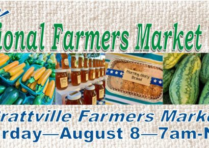 Prattville Celebrates National Farmers Market Week! Aug. 8 Come to Market for Special Giveaways, T-shirts, Totes, Recipes and Much More!