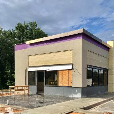 Taco Bell Taking Shape on Highway 14 in Millbrook