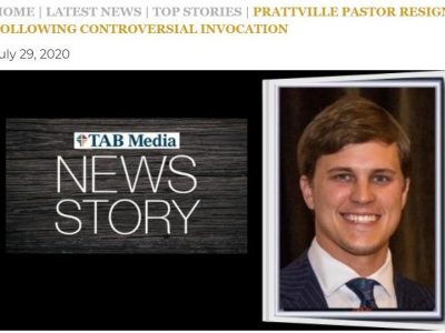 Prattville Pastor Will Dismukes Resigns from Pleasant Hill Baptist Church Following Controversial Invocation, Facebook Post