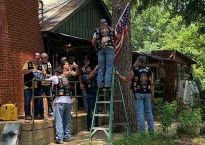 When Area American Legion Riders Saw an Establishment in Need of a New American Flag, They Made it a Mission